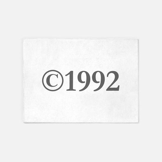 Copyright 1992-Gar gray 5'x7'Area Rug
