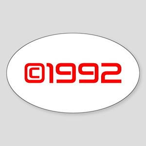 Copyright 1992-Sav red Sticker