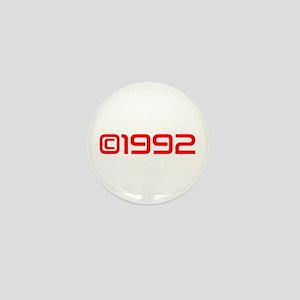 Copyright 1992-Sav red Mini Button