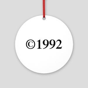 Copyright 1992-Tim black Ornament (Round)