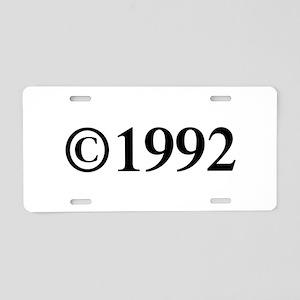 Copyright 1992-Tim black Aluminum License Plate