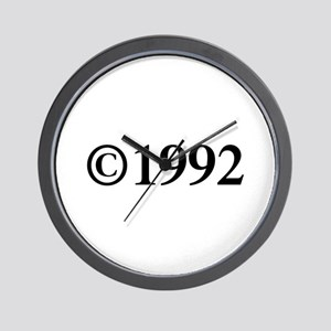 Copyright 1992-Tim black Wall Clock