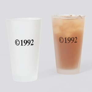 Copyright 1992-Tim black Drinking Glass