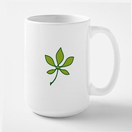 Ohio Buckeye Leaf Mugs