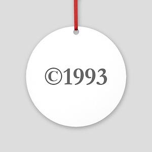 Copyright 1993-Gar gray Ornament (Round)