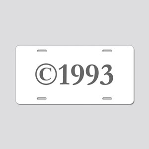 Copyright 1993-Gar gray Aluminum License Plate