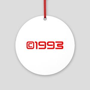 Copyright 1993-Sav red Ornament (Round)