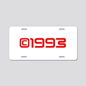 Copyright 1993-Sav red Aluminum License Plate