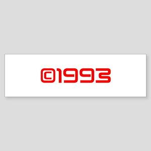 Copyright 1993-Sav red Bumper Sticker