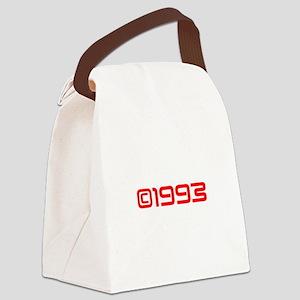 Copyright 1993-Sav red Canvas Lunch Bag