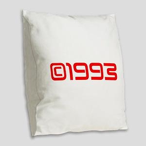 Copyright 1993-Sav red Burlap Throw Pillow