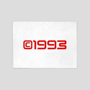 Copyright 1993-Sav red 5'x7'Area Rug