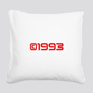 Copyright 1993-Sav red Square Canvas Pillow
