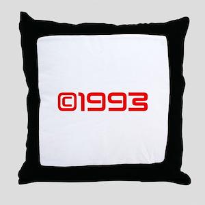 Copyright 1993-Sav red Throw Pillow