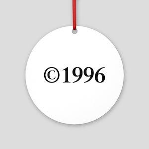 Copyright 1996-Tim black Ornament (Round)