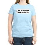 I am Stronger than Diabetes Women's Pink T-Shirt
