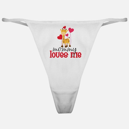 Mommy Loves Me Giraffe Hearts Classic Thong