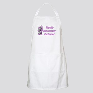 Happily Domestically Partnered BBQ Apron