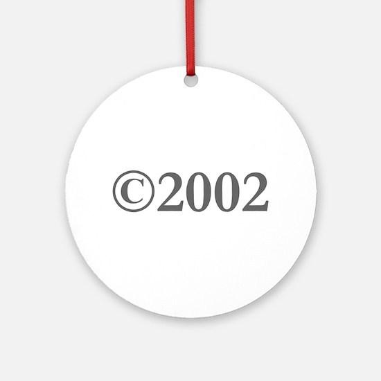 Copyright 2002-Gar gray Ornament (Round)