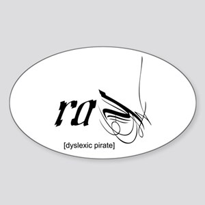 Dyslexic Pirate Oval Sticker