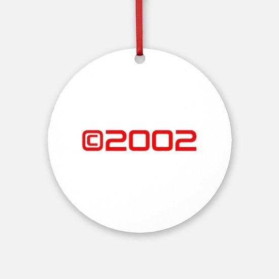 Copyright 2002-Sav red Ornament (Round)