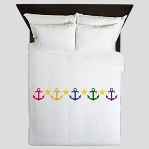 Anchors Queen Duvet