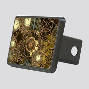 Steampunk, awessome clocks with gears Hitch Cover
