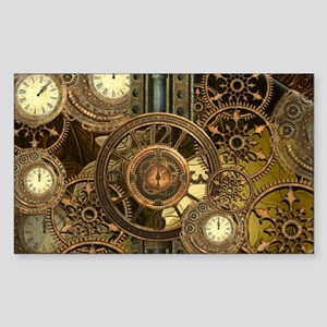 Steampunk, awessome clocks with gears Sticker