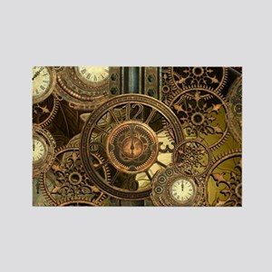 Steampunk, awessome clocks with gears Magnets