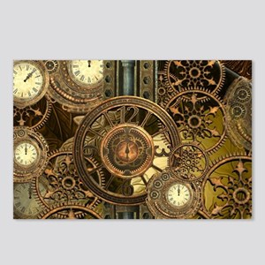 Steampunk, awessome clocks with gears Postcards (P