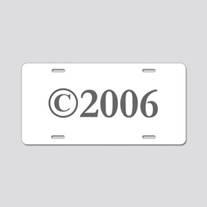Copyright 2006-Gar gray Aluminum License Plate
