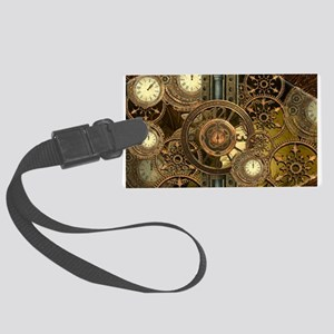 Steampunk, awessome clocks with gears Luggage Tag