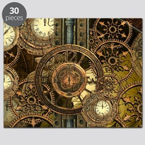 Steampunk, awessome clocks with gears Puzzle