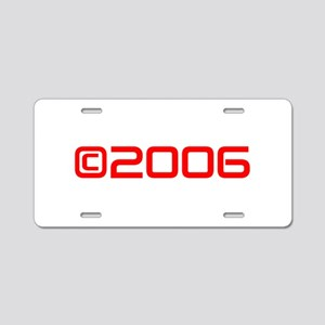 Copyright 2006-Sav red Aluminum License Plate