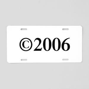Copyright 2006-Tim black Aluminum License Plate
