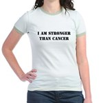I am Stronger than Cancer Jr. Ringer T-shirt