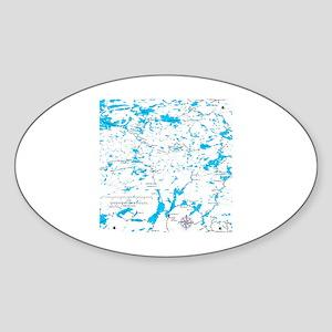 BWCA map Sawbill Sticker (Oval)