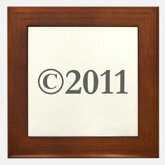 Copyright 2011-Gar gray Framed Tile