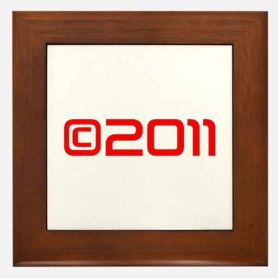Copyright 2011-Sav red Framed Tile