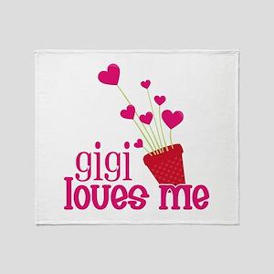 Gigi Loves Me Throw Blanket