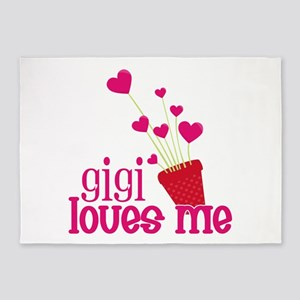 Gigi Loves Me 5'x7'Area Rug