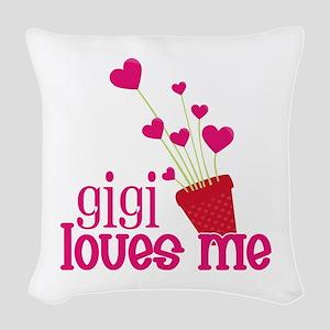Gigi Loves Me Woven Throw Pillow