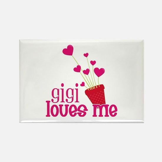 Gigi Loves Me Rectangle Magnet