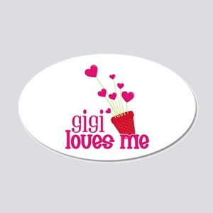 Gigi Loves Me 20x12 Oval Wall Decal