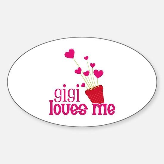 Gigi Loves Me Sticker (Oval)