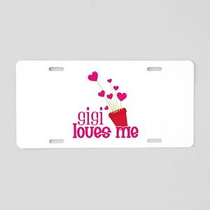 Gigi Loves Me Aluminum License Plate