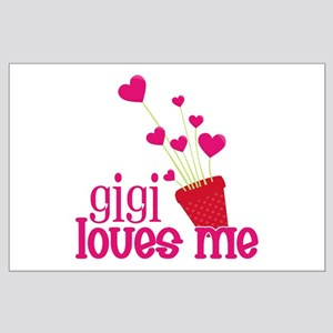Gigi Loves Me Large Poster