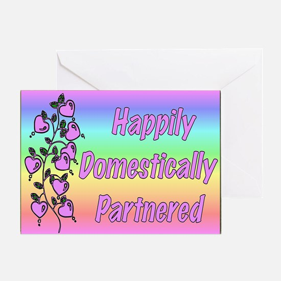 Happily Domestically Partnered Greeting Card