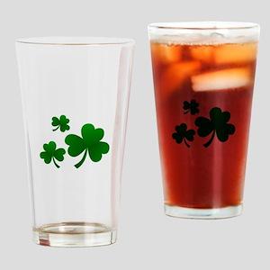 Clovers Drinking Glass