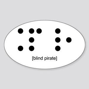 Blind Pirate Oval Sticker